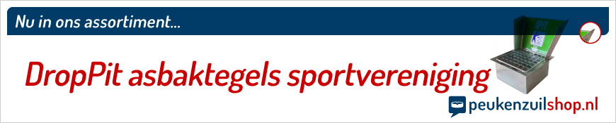 DropPit asbaktegels sportvereniging